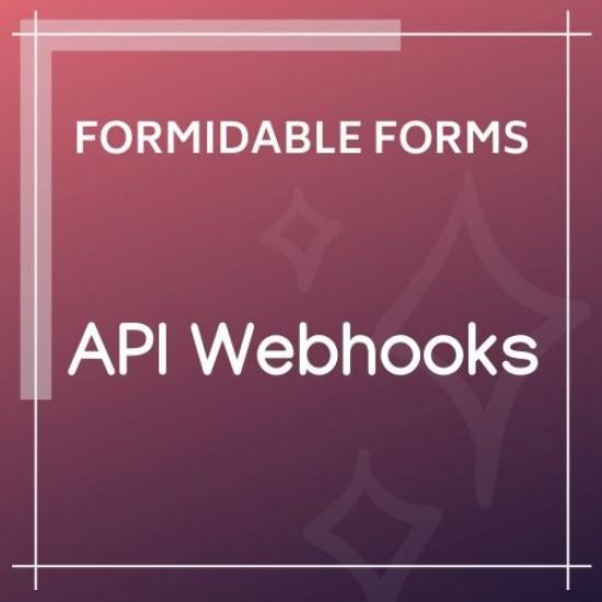 Formidable Forms API Webhooks Add-On 1.08