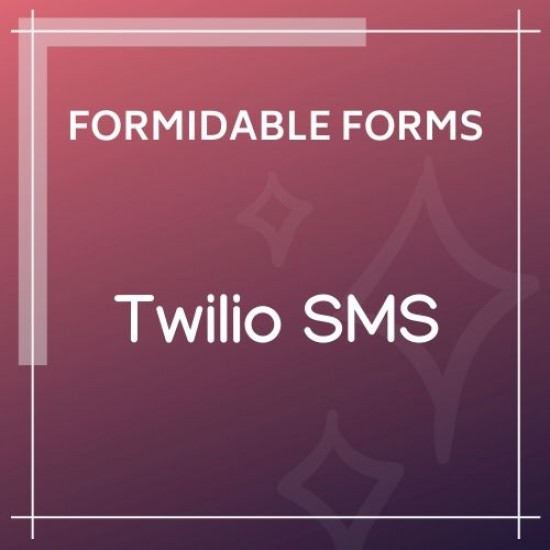Formidable Forms Twilio SMS Add-On 1.08