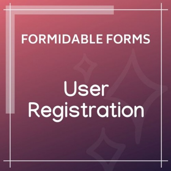 Formidable Forms User Registration Add-On