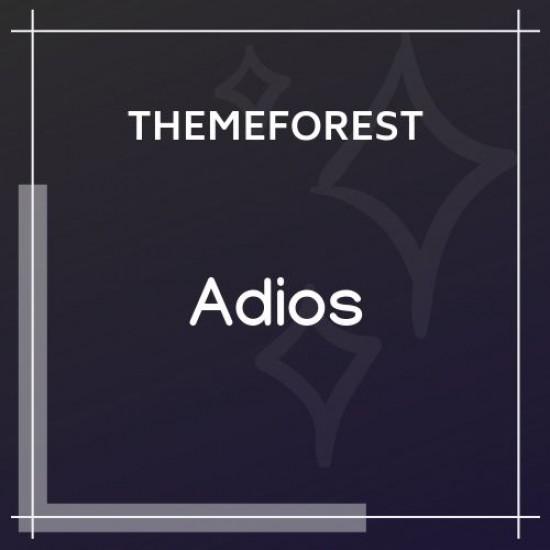 Adios Portfolio WordPress Theme