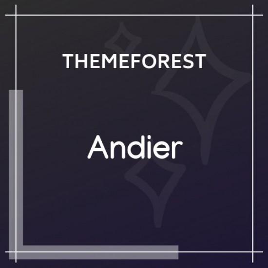 Andier Responsive One Page Multi Page Portfolio Theme