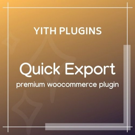 YITH Woocommerce Quick Export Premium