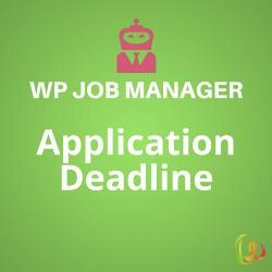 WP Job Manager Application Deadline 1.2.2