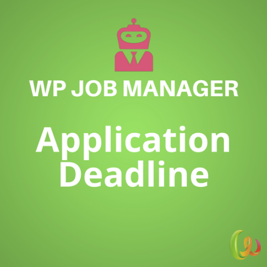 WP Job Manager Application Deadline 1.2.2