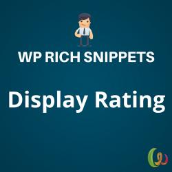 WP Rich Snippets Display Rating 1.1