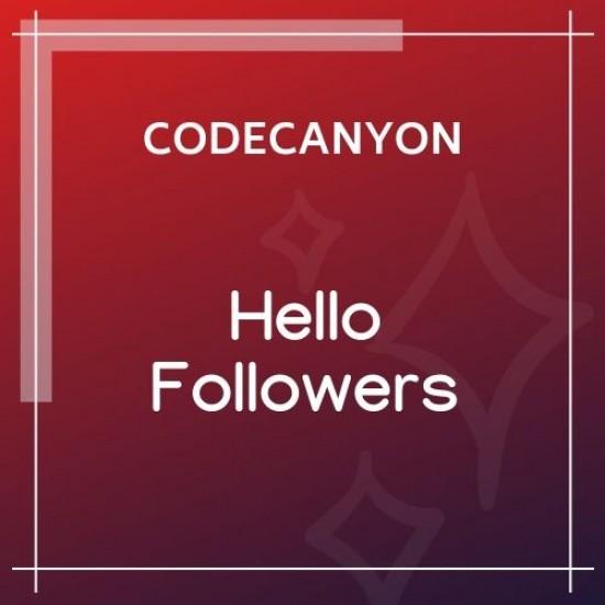 Hello Followers Social Counter Plugin 2.5