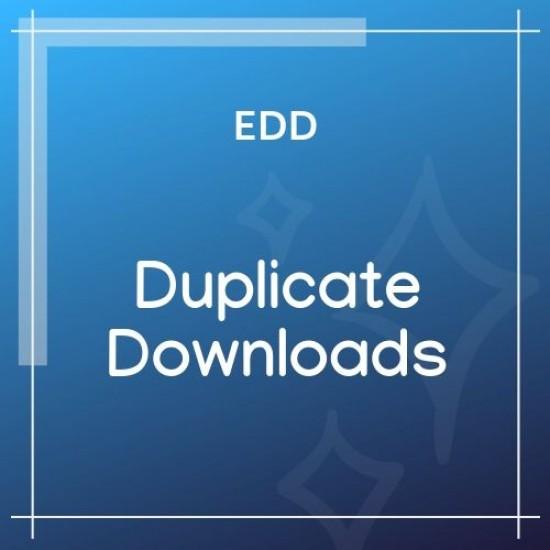 Easy Digital Downloads Duplicate Downloads 1.0.1