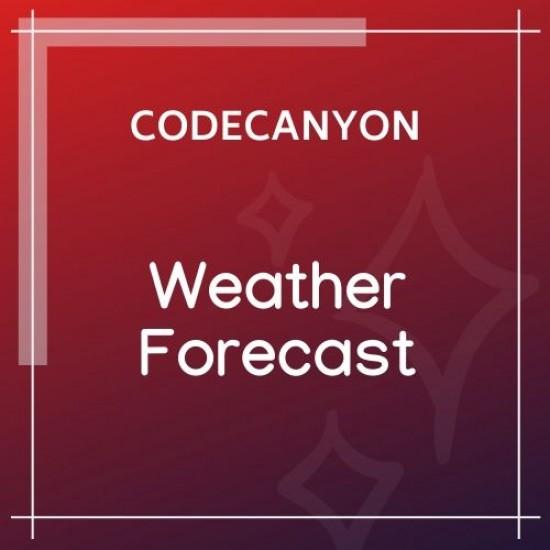 Weather Forecast WordPress Weather Plugin