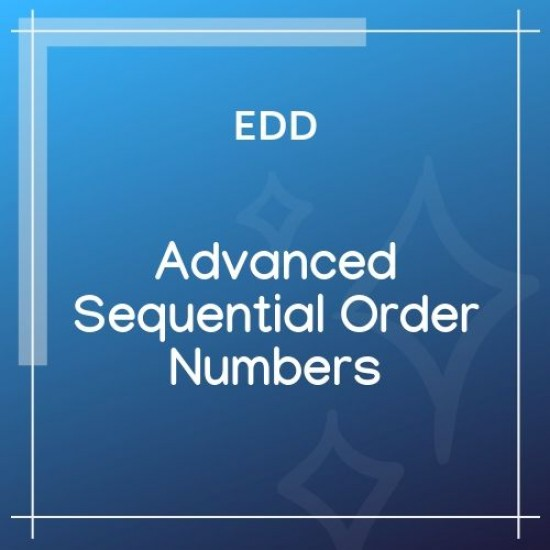 EDD Advanced Sequential Order Numbers 1.0.8