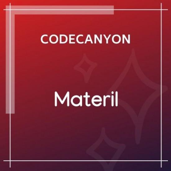 Materil WordPress Material Design Admin Theme 1.2.0