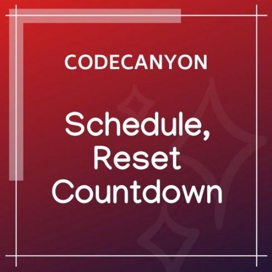 Schedule, Reset Countdown Plugin | WooCP 1.0.0