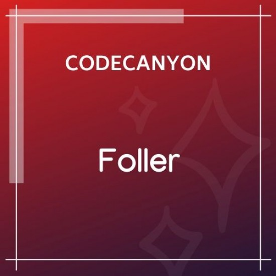 Social followers bar for WordPress Foller