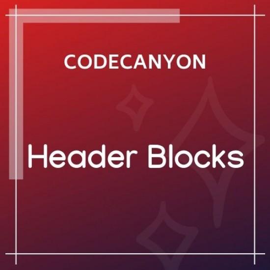 Header Blocks for Elementor