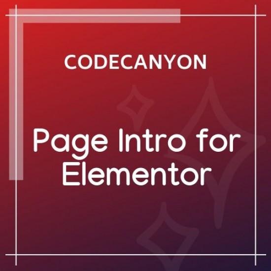 Page Intro for Elementor WordPress Plugin 1.0