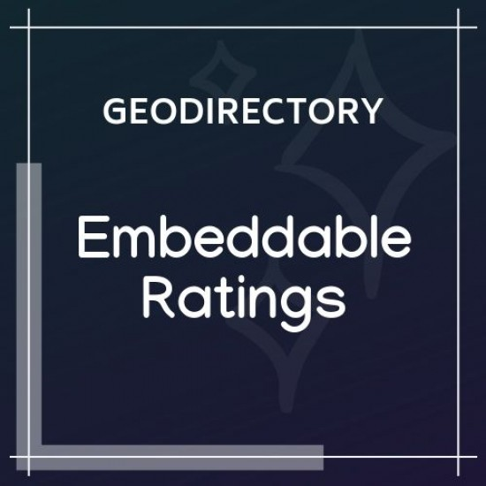 GeoDirectory Embeddable Ratings Badge