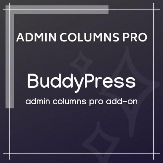 Admin Columns Pro BuddyPress Columns