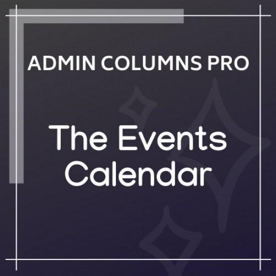 Admin Columns Pro The Events Calendar Addon