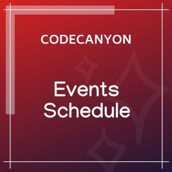 Events Schedule 2.5.9