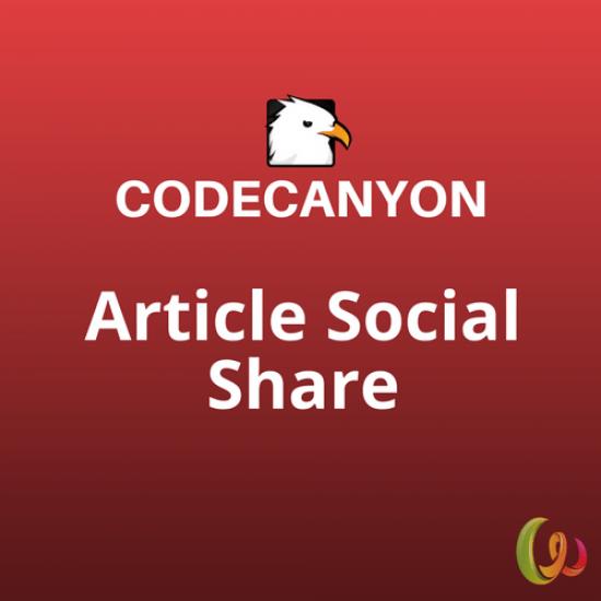 WordPress Article Social Share 1.3.4