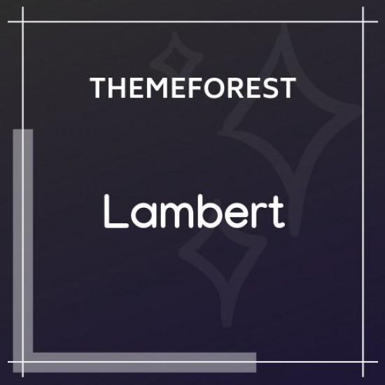 Lambert Restaurant / Cafe / Pub WordPress Theme 2.5.1
