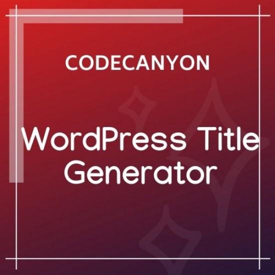 WordPress Title Generator Plugin 1.0