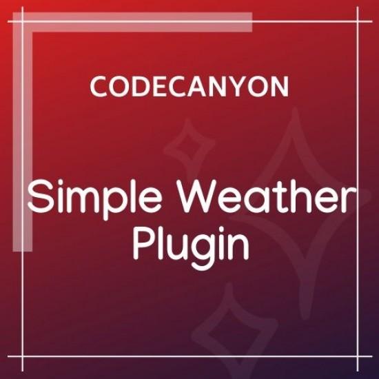 Weather WordPress Shortcode Widget Simple Weather Plugin