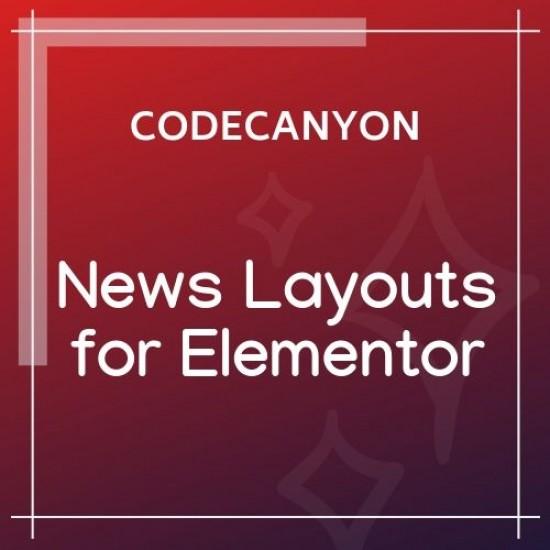 News Layouts for Elementor WordPress Plugin 1.0