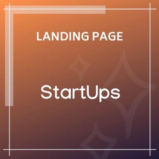 StartUps Startup Landing Page
