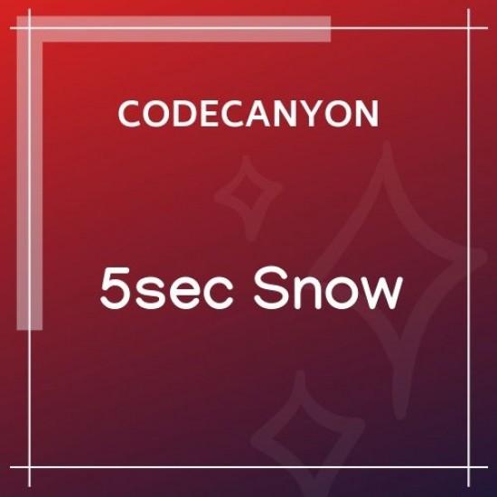 5sec Snow Christmas Joy Generator