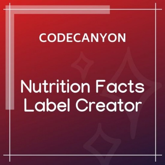 Nutrition Facts Label Creator for WPBakery 1.2.0