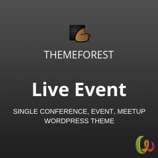 Live Event Single Conference, Event, Meetup WordPress Theme 1.1.0