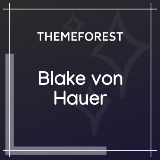 Blake von Hauer Editorial Fashion Magazine Theme