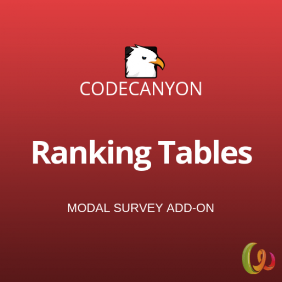 Ranking Tables Modal Survey Add-on 1.0.1