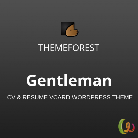 Gentleman CV Resume vCard WordPress Theme 1.4.3