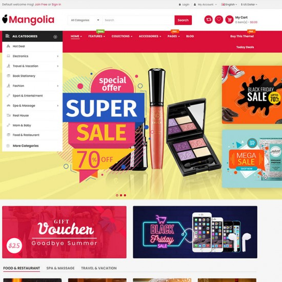 So Mangolia The Clean Minimal Multipurpose OpenCart Theme