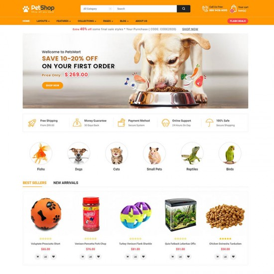 SO PetShop Multipurpose OpenCart 3 Theme